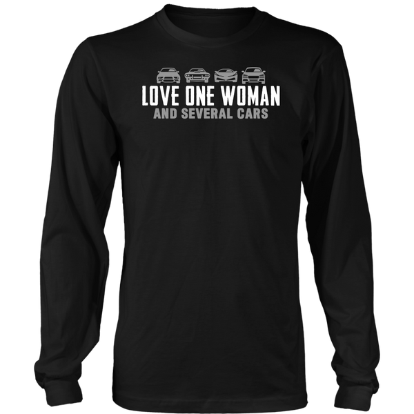 One Woman Several Cars Long Sleeve