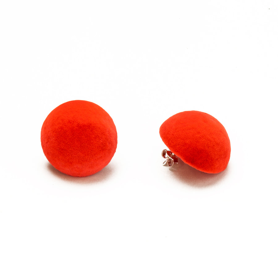 Plüsch Earrings Crazy Orange