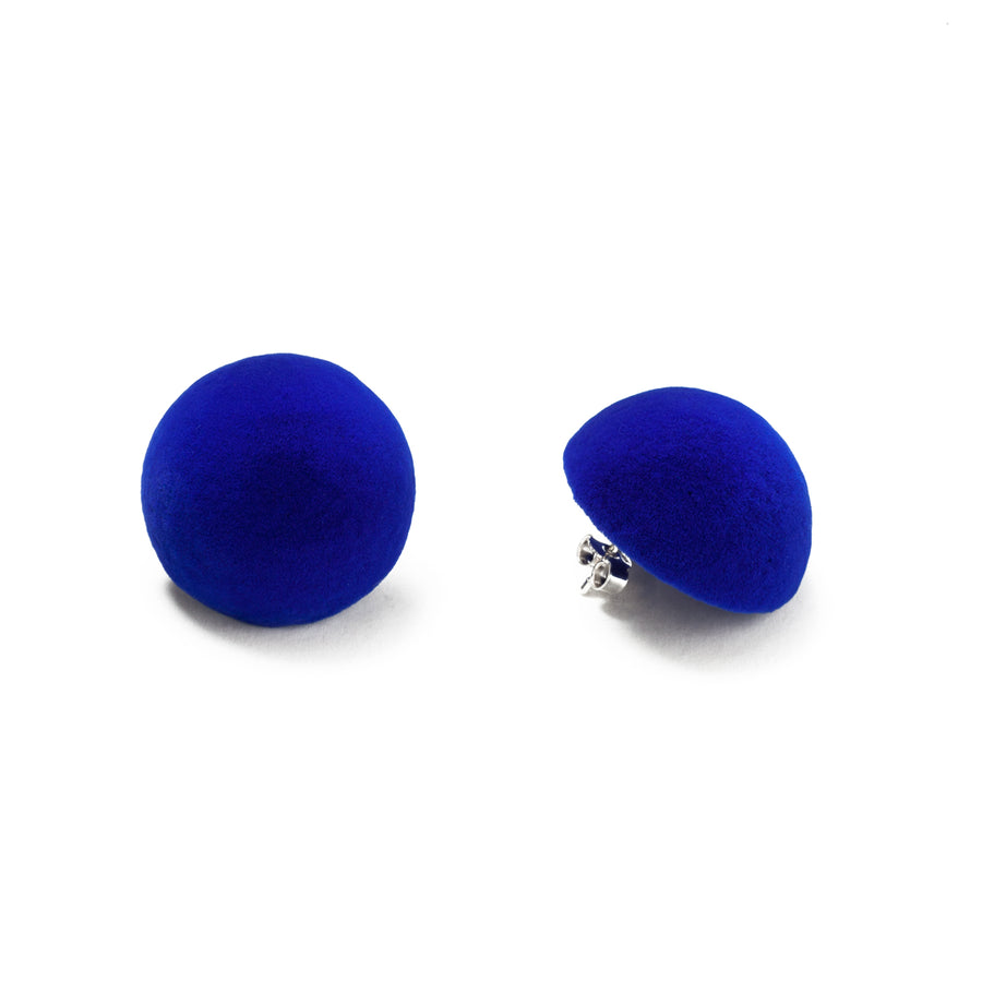 Plüsch Earrings Electric Blue