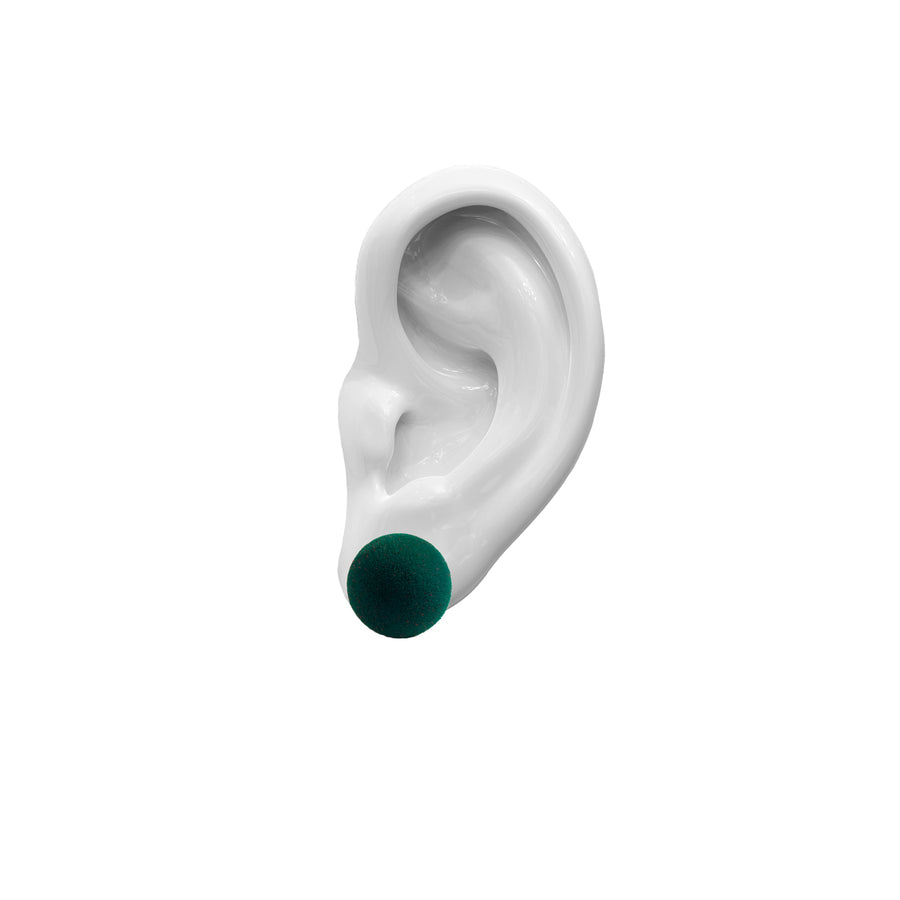 Plüsch Earrings Forest Green