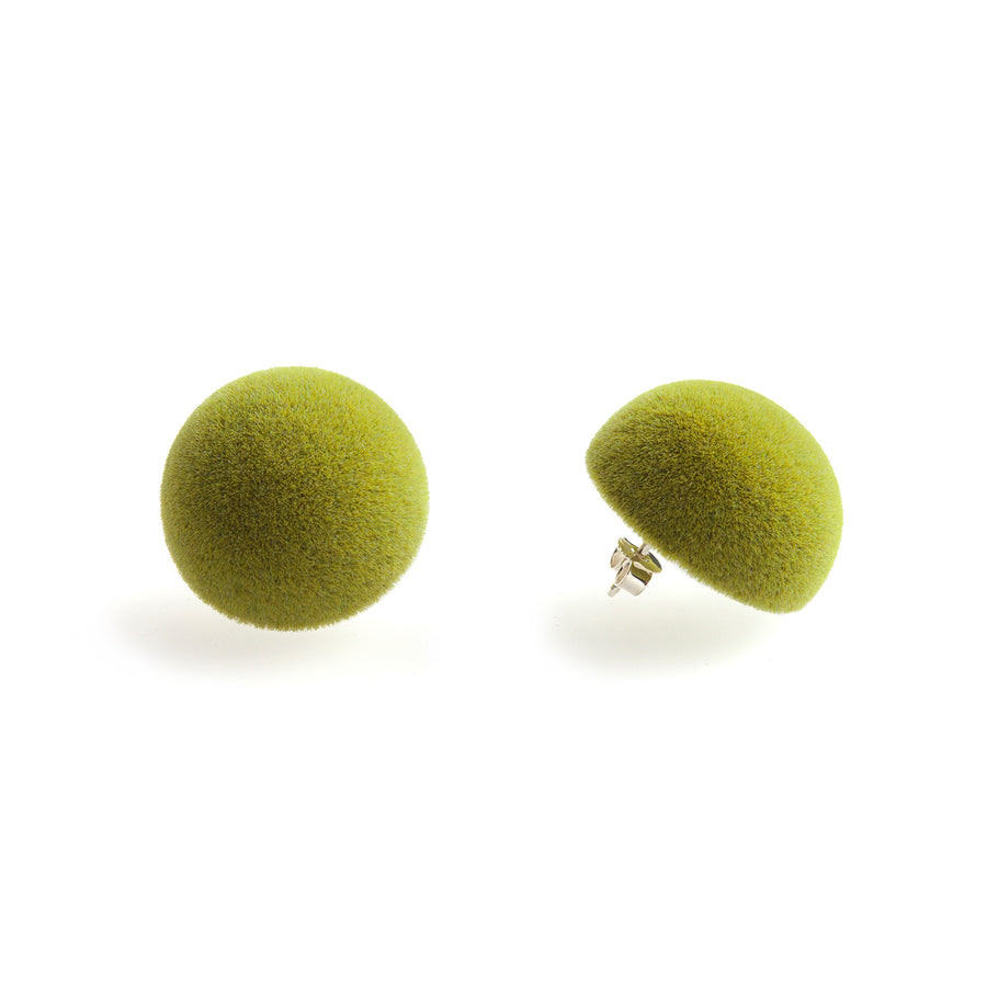 Plüsch Earrings Olive