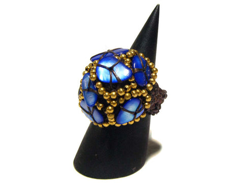 Beaded ring (woven)