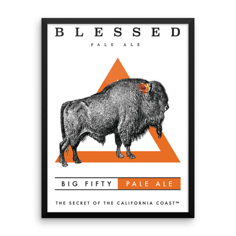 Big Fifty Framed poster - Blessed Brewing