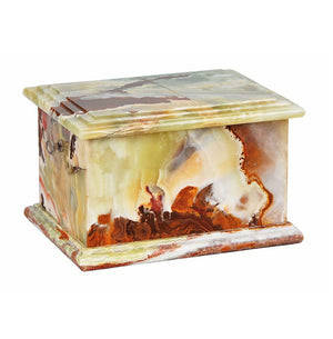 Stone Casket Natural  Onyx Cremation Ashes Urn For Adult  Unique Memorial (1MG) - unique.urns_caskets