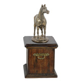 Beautiful solid  wood casket with Bronze Statue - Arabian Horse cremation casket for Horse ashes ( 1) - unique.urns_caskets - 4