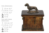Solid Wood Casket Dachshund Wirehaired Urn for Dog's ashes,with Dog statue.(23) - unique.urns_caskets