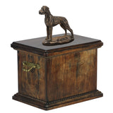 Solid Wood Casket  Great dane uncropped Memorial Urn for Dog's ashes,with Dog statue.(56) - unique.urns_caskets