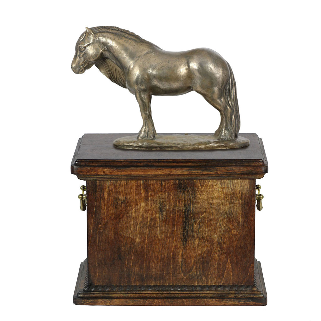 Beautiful solid wood casket with Bronze Statue - Fell Pony Mare  Horse cremation casket for Horse ashes (3) - unique.urns_caskets - 1