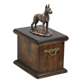Solid Wood Casket  Great Dane Cropped Dog Urn for Dog's ashes,with Dog statue.(33) - unique.urns_caskets - 2