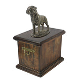 Solid Wood Casket Rottweiler with a tail Memorial Urn for Dog's ashes,with Dog statue (63) - unique.urns_caskets