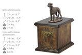 Solid Wood Casket Irish Wolfhound Dog Urn for Dog's ashes,with Dog statue.(34) - unique.urns_caskets