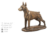 Solid Wood Casket Doberman Cropped  Urn for Dog's ashes,with Dog statue.(24) - unique.urns_caskets
