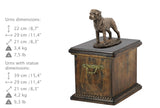 Solid Wood Casket Rottweiler Memorial Urn for Dog's ashes,with Dog statue.(44) - unique.urns_caskets
