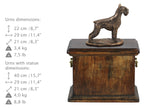 Solid Wood Casket Schnauzer cropped Memorial Urn for Dog's ashes,with Dog statue.(46) - unique.urns_caskets