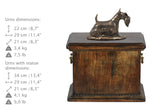 Solid Wood Casket Scottish Terrier Memorial Urn for Dog's ashes,with Dog statue.(48) - unique.urns_caskets - 4