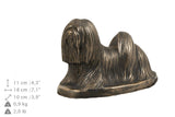 Solid Wood Casket Lhasa Apso Dog Urn for Dog's ashes,with Dog statue.(36) - unique.urns_caskets