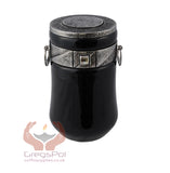 Exclusive Beautiful Glass Cremation Urn-Black with Swarovski Crystal Funeral Urn For Adult (ART9)