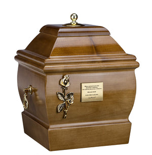 Solid Wood Casket  Funeral Ashes Urn for Adult Cremation Urn  Memorial (Wu47CB) - unique.urns_caskets