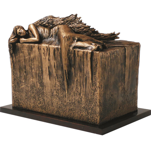 Artistic Cremation Urn Angel At Rest Unique urn for ashes Adult urn