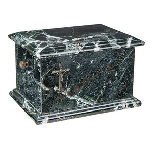 Stone Casket Natural Black Onyx Cremation Ashes Urn For Adult (ST10) - unique.urns_caskets