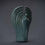 Unique Ceramic Cremation urn for ashes. Stunning memorial funeral Urn for Adult - Guardian - unique.urns_caskets