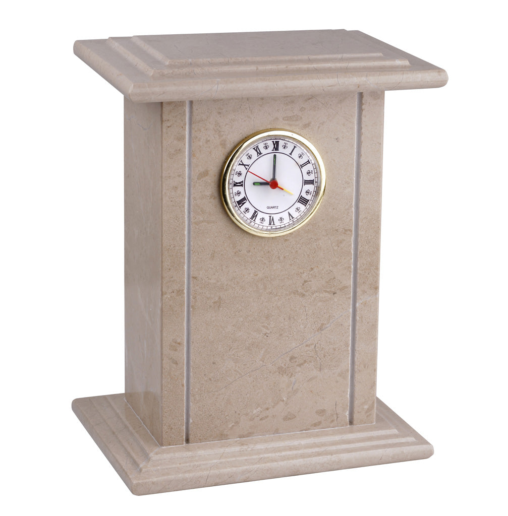 Clock -Genuine Natural  Marble Cremation Ashes Urn For Adult Stone casket (ST-8) - unique.urns_caskets
