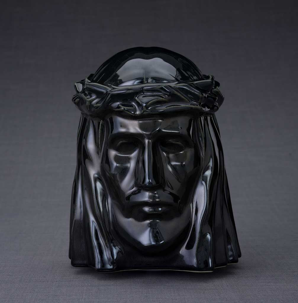 Unique Ceramic Cremation urn for ashes. Stunning memorial funeral Urn for Adult -The Christ - unique.urns_caskets