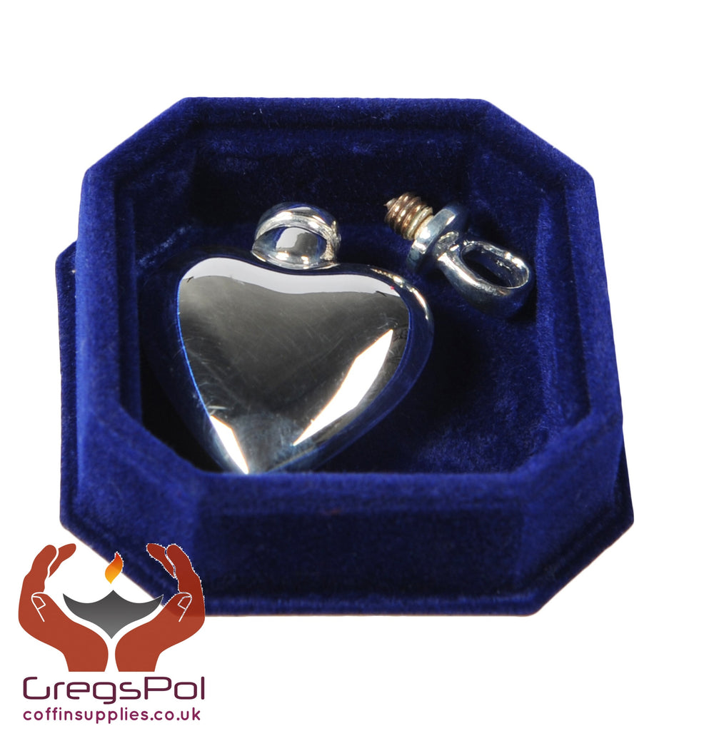 Beautiful Solid Silver  Heart Pendant Keepsake Locked Ashes Jewellery - unique.urns_caskets