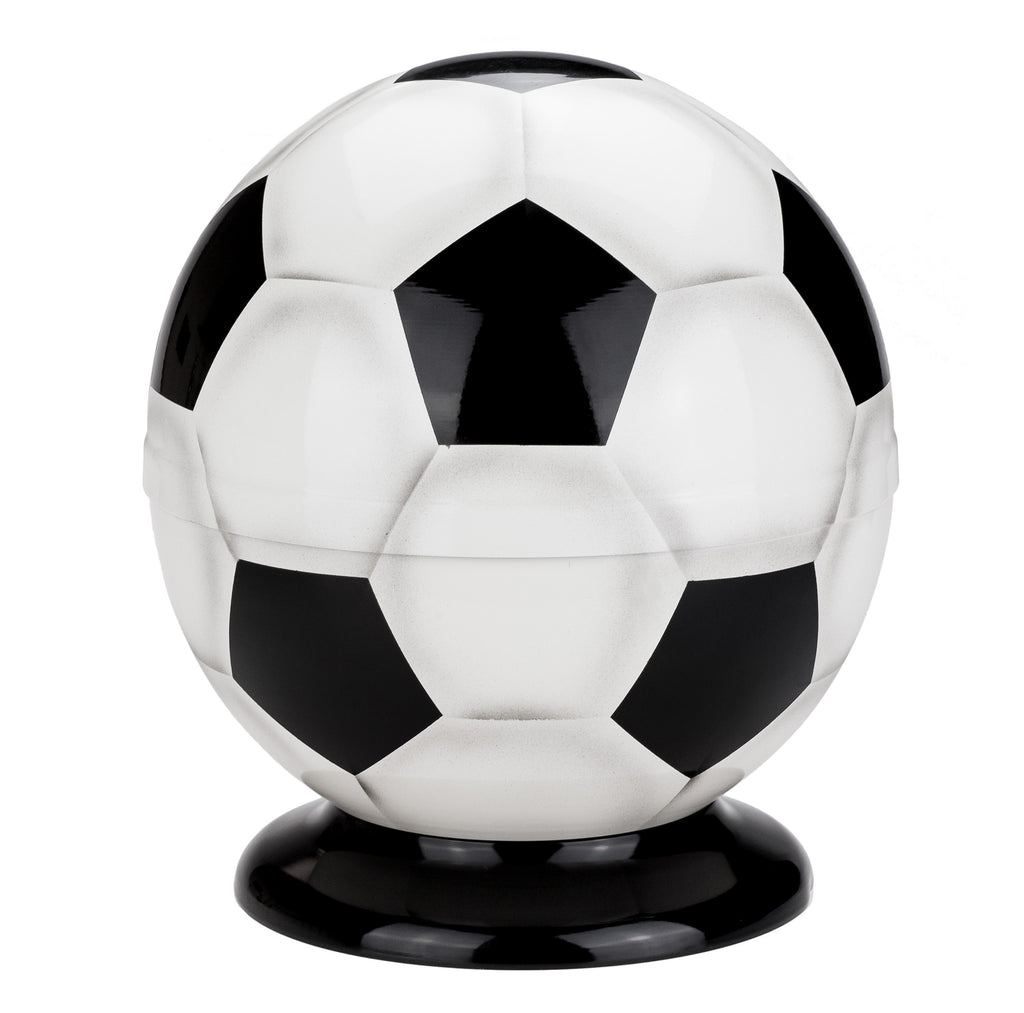 Beautiful Cremation ashes Adult urn in the shape of a football Unique Funeral  soccer-shaped urn - unique.urns_caskets