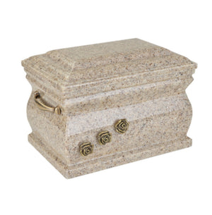 Composite Casket Cremation Ashes Urn For Adult With Brass Roses (UK88BE) - unique.urns_caskets