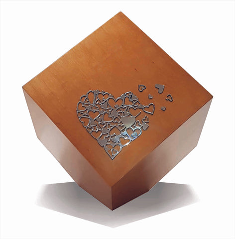 Modern Geometric Cremation Urn , Artistic memorial  funeral urn for ashes Companion Urn  (Art31) - unique.urns_caskets