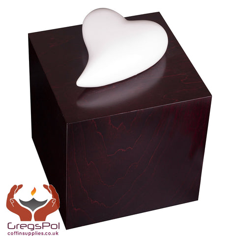Artistic Cremation Urn heart of remembrance Funeral Urn for Adulr UK