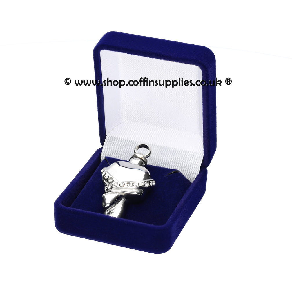 Heart Urn Necklace Cremation Ashes  Keepsake Pendant Locked Ashes Jewellery Gregspol Ltd