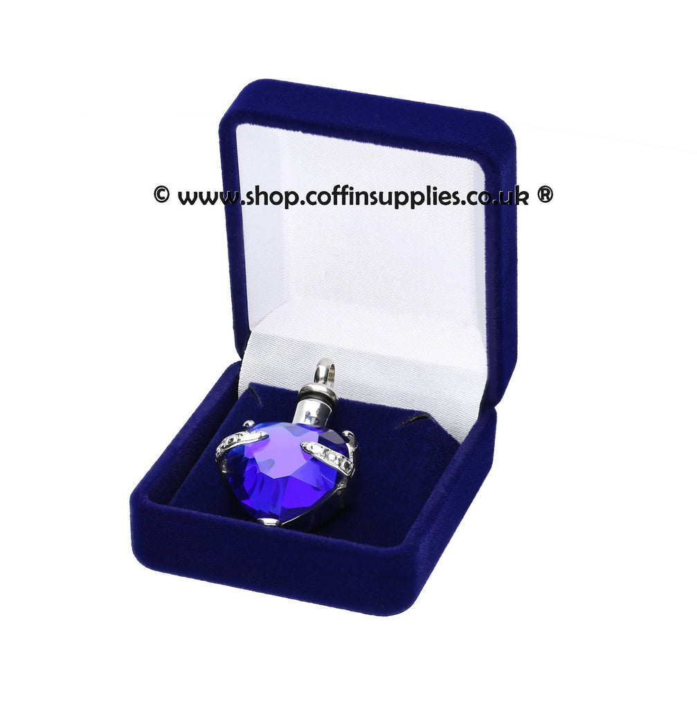 Heart Urn Necklace Cremation Ashes  Keepsake Pendant Locked Ashes Jewellery