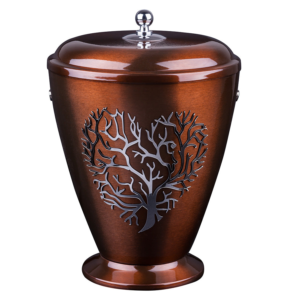 Beautifu Metal Cremation Urn for Ashes,Funeral Urn for Adult with  tree of life (Art22B) - unique.urns_caskets