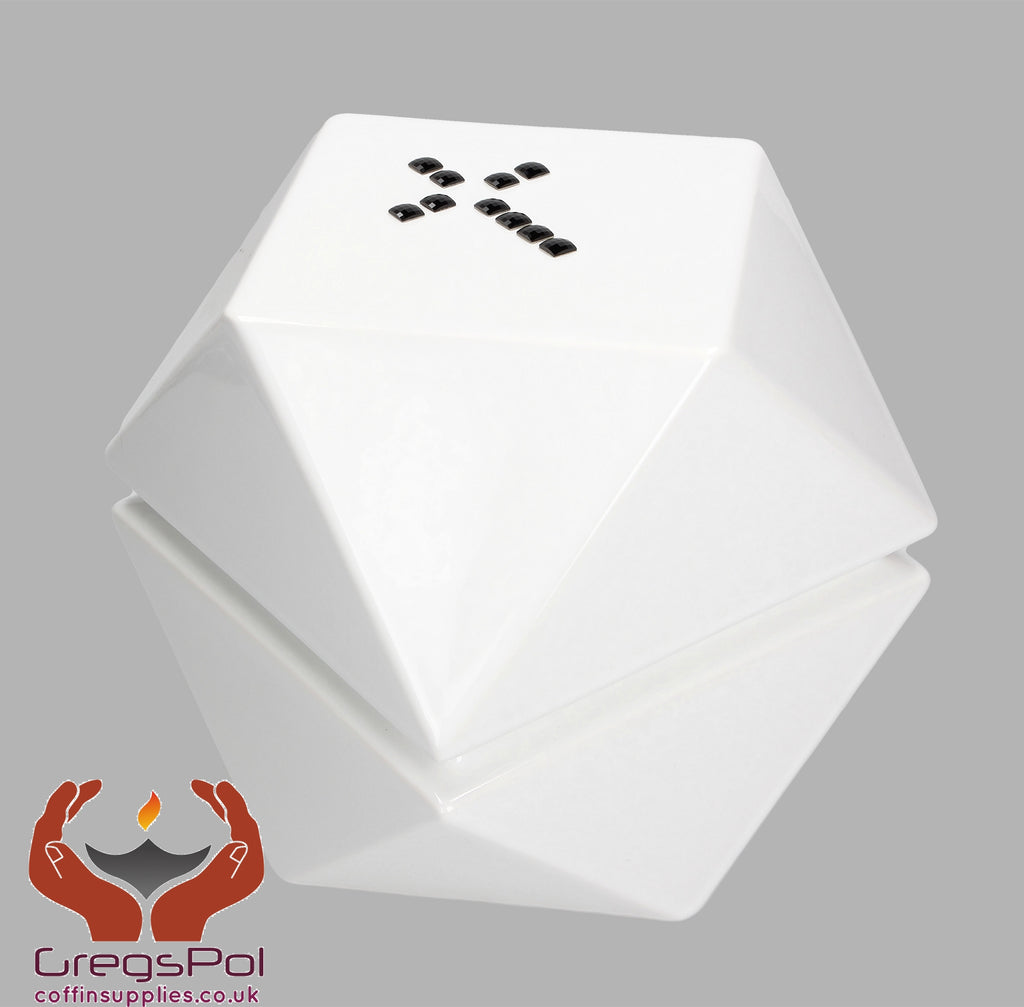 Origami Modern Designer Crematio urn for adult ashes