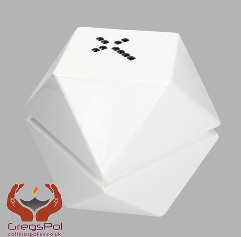 Origami Modern Designer Cremation Urn for Child Ashes Hihg Quality Funeral Urn Uk White - unique.urns_caskets