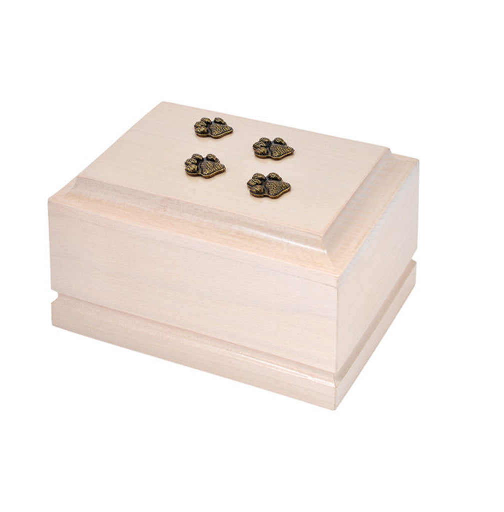 Wooden Pet Cremation Urn for Ashes Unique Memorial casket final resting place for a beloved Cat or Dog. (ZD8) - unique.urns_caskets