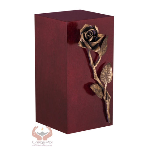 Unique Artistic Cremation Urn Rose- Funeral Urn for Adult Ashes Urn (Art 16B) - unique.urns_caskets