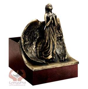 Unique Artistic Cremation Urn Relief- Angel Funeral Urn for Adult Urn for Ashes (Art 14B) - unique.urns_caskets