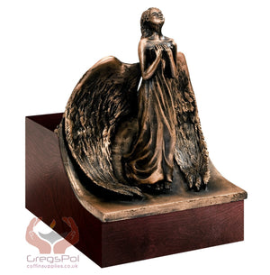 Unique Artistic Cremation Urn Relief- Angel Funeral Urn for Adult Urn for Ashes (Art 14C) - unique.urns_caskets