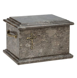 Stone Casket Natural  Onyx with Cross Cremation Ashes Urn For Adult  (ST00C) - unique.urns_caskets