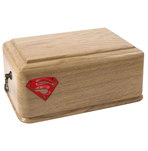 Superman Cremation Urn Funeral Ashes Urn for Adult ,Your Superhero final resting place (WU49S) - unique.urns_caskets