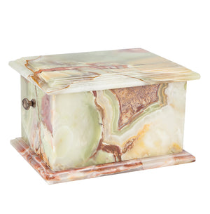 Stone Casket Natural  Onyx Cremation Ashes Urn For Adult Memorial Casket (ST3L) - unique.urns_caskets