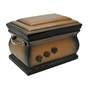 Composite Casket Cremation Ashes Urn For Adult With Brass Roses (UK88Z) - unique.urns_caskets