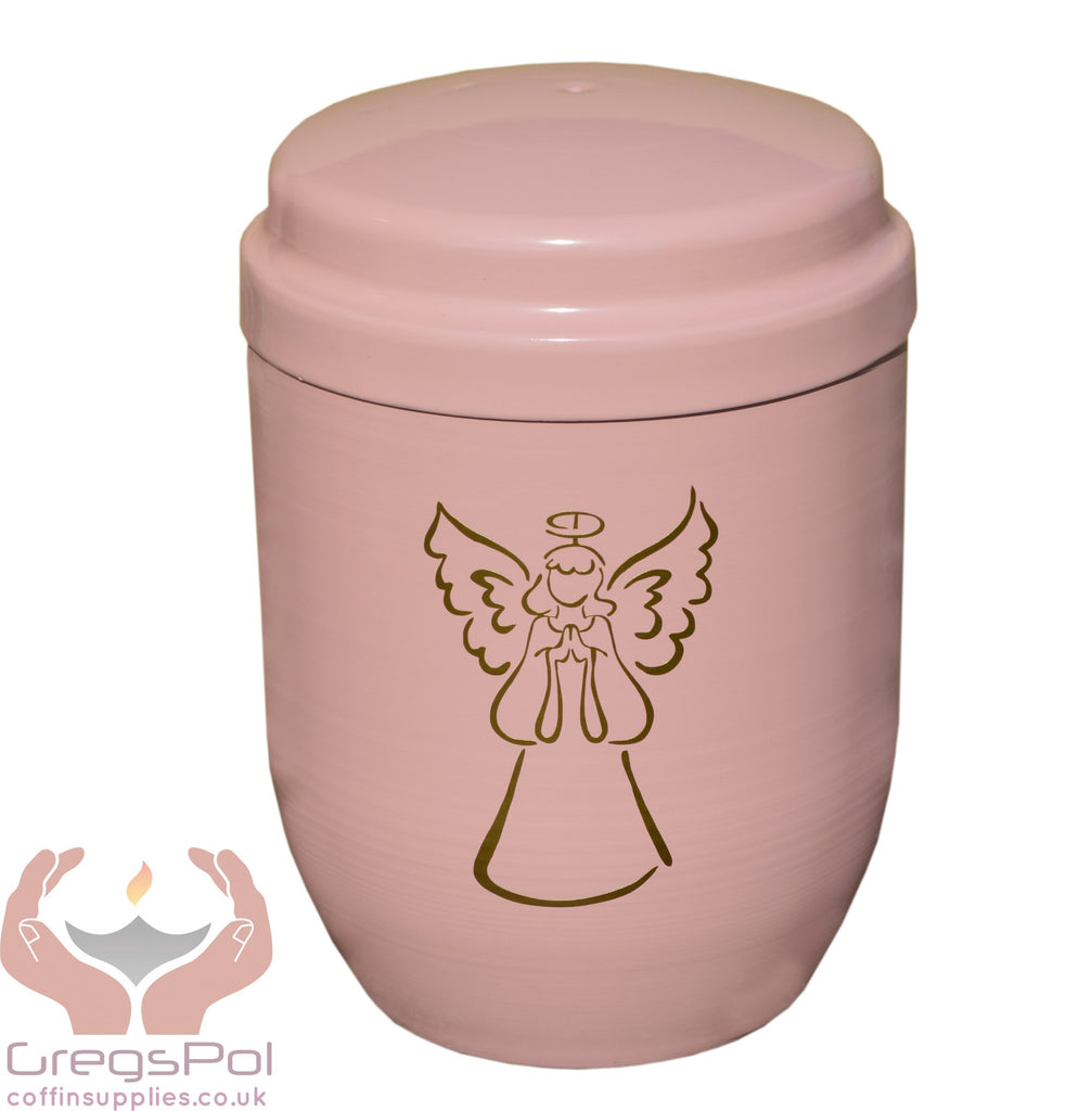 Child  Pink  Metal Cremation Urn.Funeral Urn For Ashes Small Metal Urn(UMF1) - unique.urns_caskets
