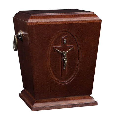 Beautiful Solid Wood Casket ,Funeral Ashes Urn for Adult Cremation Urn (Wu39D) - unique.urns_caskets