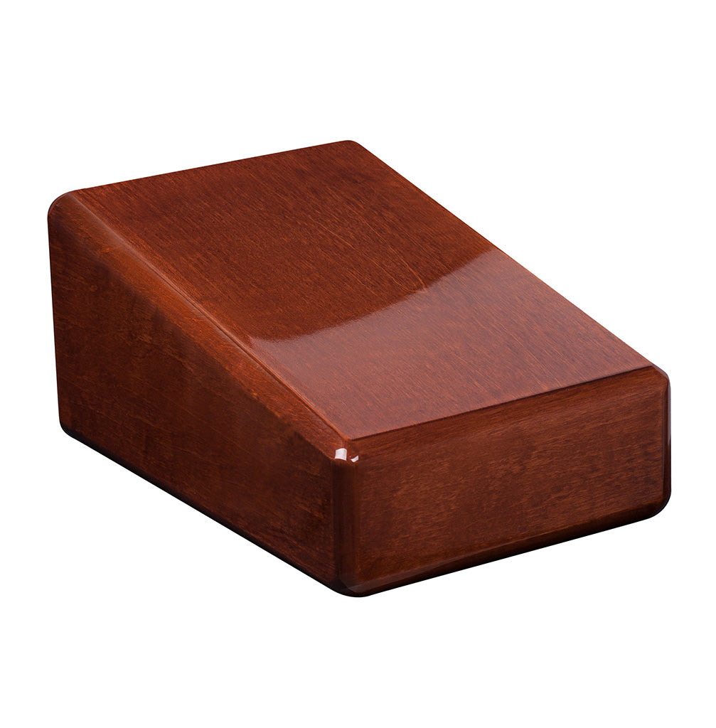 Unique Wooden Cremation Urn for Adult Ashes Modern Funeral casket High Gloss (WU54) - unique.urns_caskets
