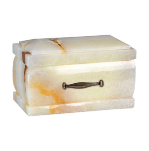 Stone Casket Natural White Onyx Cremation Ashes Urn For Adult  Unique Memorial funeral Urn (10WO) - unique.urns_caskets
