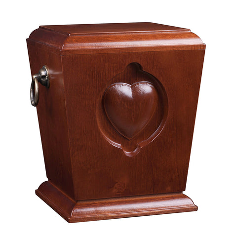 Beautiful Solid Wood Casket ,Funeral Ashes Urn for Adult Cremation Urn (Wu39) - unique.urns_caskets
